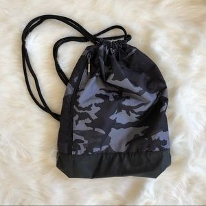 NIKE Black Camo Drawstring Backpack